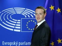 Facebook's CEO Mark Zuckerberg arrives at the European Parliament to answer questions in Brussels; zucki+jetzt