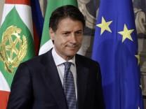 Conte bei Präsident Mattarella