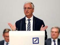 Deutsche Bank's annual meeting in Frankfurt