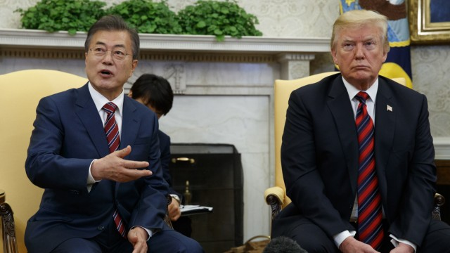 Donald Trump, Moon Jae-In Südkorea Nordkorea