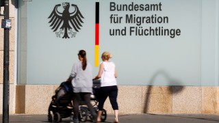 An office building of the Federal Office for Migration and Refugees (BAMF) is pictured in Berlin