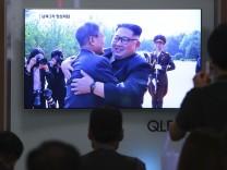 Kim Jong Un. Moon Jae-in