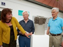 Modell der Skulptur Todesmarsch