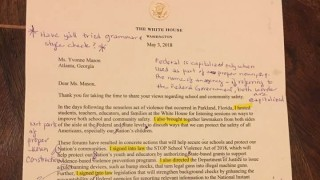 Lehrerin Korrigiert Brief Von Donald Trump Panorama Süddeutschede