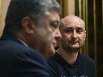 Poroschenko trifft  Journalist Arkadi Babtschenko