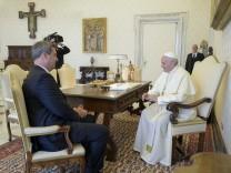 Bayerns Ministerpräsident im Vatikan