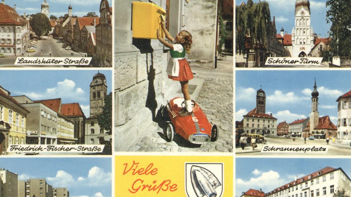 Postkarten damals und heute - Liebe Grüße aus Erding - Erding ...