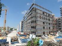 Eine Baustelle in München-Pasing