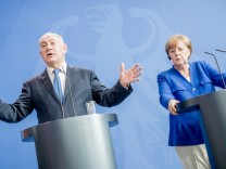 Israels Ministerpräsident Netanjahu bei Kanzlerin Merkel