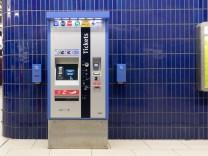 MVV-Automat, U-Bahn am Marienplatz