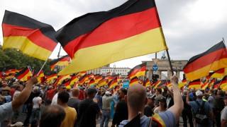 AfD-Demonstration vor dem Brandenburger Tor in Berlin im Mai 2018.
