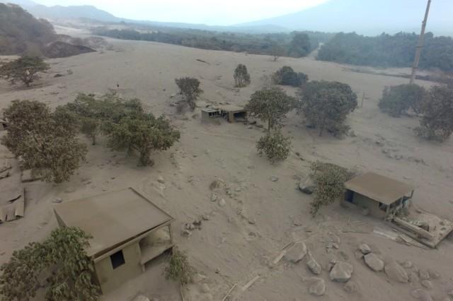 Ausbruch des Feuervulkans in Guatemala