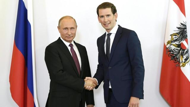 Russischer Präsident zu Besuch in Österreich