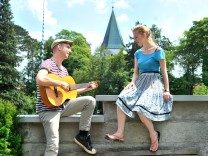 Pöcking Strassenfest Musiker: Katharina Heißenhuber und Cornelius Danneberg