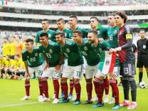 Mannschaftsfoto des mexikanischen Nationalteams - bei der WM 2018 in Russland trifft Mexiko in der Vorrunde auf Deutschland.