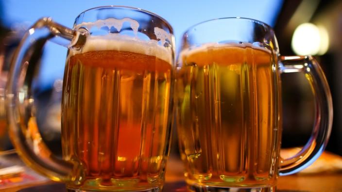 Bier bei sommerlichen Temperaturen