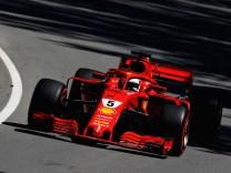 Ferrari-Pilot Sebastian Vettel beim Freien Training zum Formel-1-Rennen in Kanada auf der Strecke in Montréal.