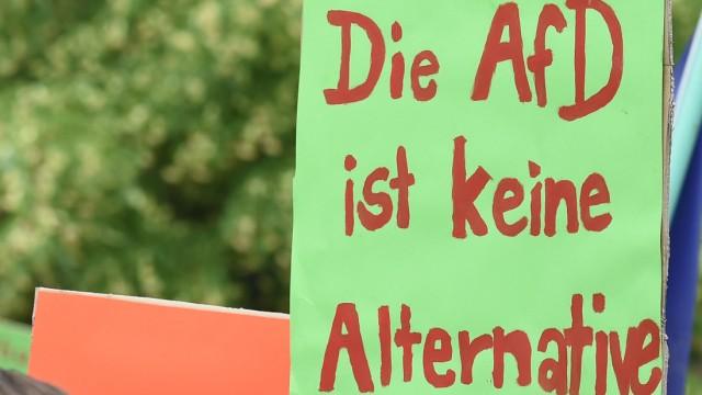Demo der AfD gegen Pläne zum Bau einer Moschee