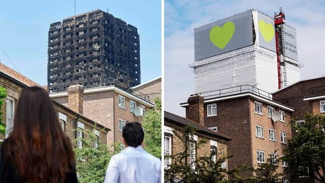 Unglück und Unfall Hochhausbrand in London