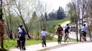 Radfahrer im Fünfseenland