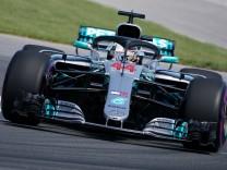Formel-1-Pilot Lewis Hamilton im Mercedes während des Großen Preises von Kanada 2018 - der Brite beendete das Rennen auf Rang 5.