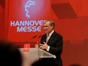 Bundespräsident Köhler, Hannover Messe, Foto: dpa