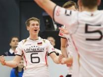 Volleyball Hessen U20 EM Qualifikation Männer 01 04 2016 Ungarn rot Deutschland ws v