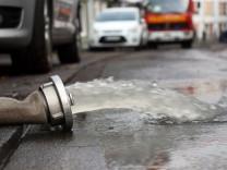 Überschwemmungen nach Starkregen in Soester Innenstadt