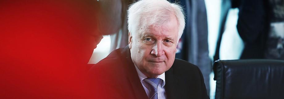 Horst Seehofer bei der Kabinettssitzung