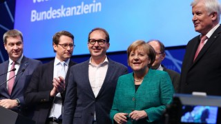 CSU-Parteitag Merkel CSU Seehofer Söder Wahl