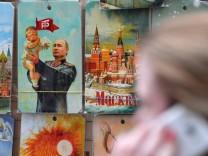 Souvenirs mit russischen Motiven