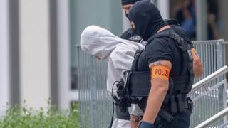 Todesfall Susanna 10 06 2018 Wiesbaden Der mutmaßliche Täter wird aus dem Polizeipräsidium Westhes