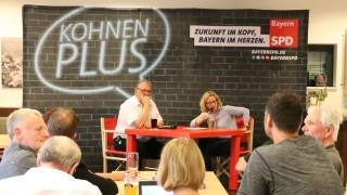 SPD-Spitzenkandidatin Natascha Kohnen im Gespräch mit niederbayerischen Genossen.