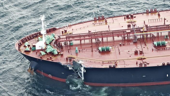 Kerosintanker auf Nordsee leck