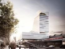 Der Hauptbahnhof München wird neugestaltet, der Büroturm an der Nordseite ist der erste Schritt.