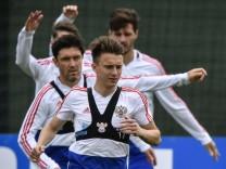 Russische Nationalmannschaft trainiert für die Fußball-WM