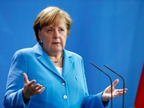 Germany's Chancellor Merkel meets Belgium's Premier Charles Michel