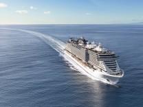 """Kreuzfahrtschiff ´MSC Seaview"""" fährt jetzt im Mittelmeer"""