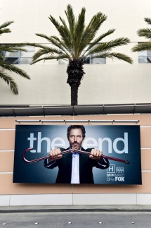 April 25 2012 Los Angeles CA USA A street facing billboard on the Fox Studios lot indicates t