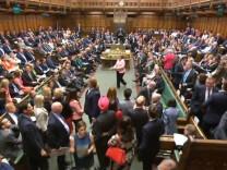 Eklat im britischen Parlament