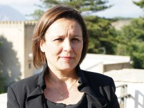 Italy, Sicily: Piera Aiello, anti mafia witness since mafia killed her husband and currently member of the Italian Chamber of Deputies of Five Stars Movement M5S party, poses for apicture for first time since 1993. She could not reveal her face because he