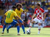 Croatia v Brazil - International Friendly; Modric