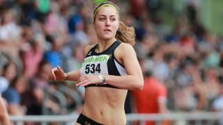 Paulina Huber LG Stadtwerke Muenchen 100m Huerden Frauen U23 Finale U23 Deutsche Meisterschaf