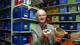 Karl Ludwig Hebler im Depot; Beim Archäologischen Verein