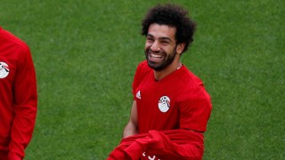 Mohamed Salah beim Training der ägyptischen Nationalmannschaft