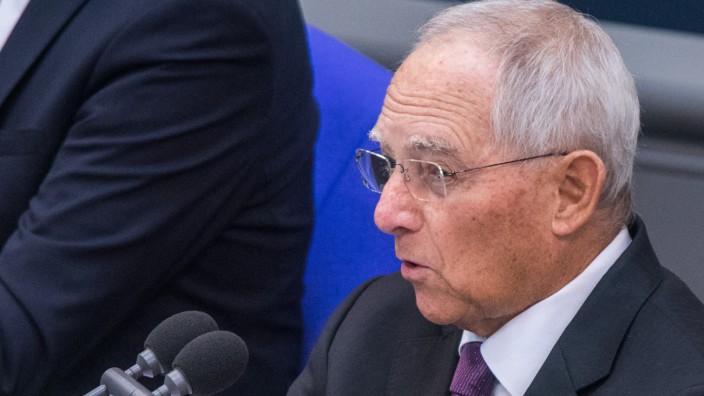 Bundestagspräsident Wolfgang Schäuble im Deutschen Bundestag