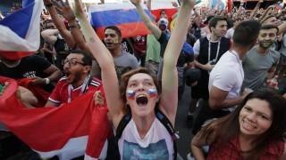 Russische Fans bei der WM 2018
