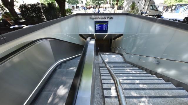 Am Rosenheimer Platz ist der Umbau des Zugangs abgeschlossen