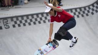 Beim Skateboard-Wettbewerb Munich Mash tritt auch Nora Vasconcellos aus den USA an.