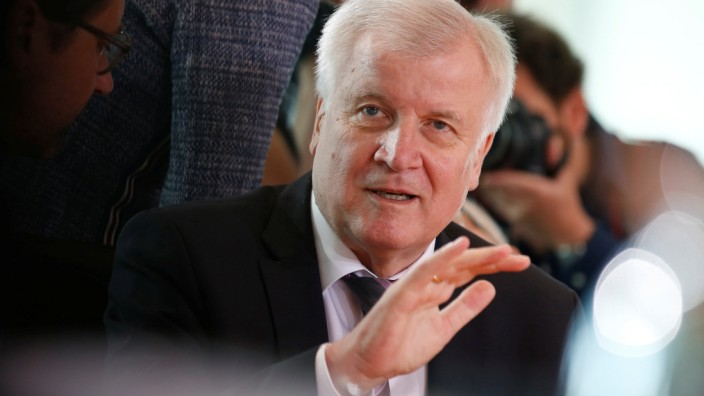 German Interior Minister Horst Seehofer attends the weekly cabinet meeting in Berlin